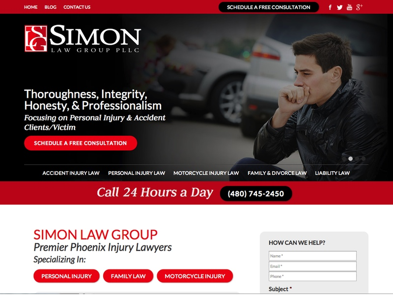 web design for Simon Law Group